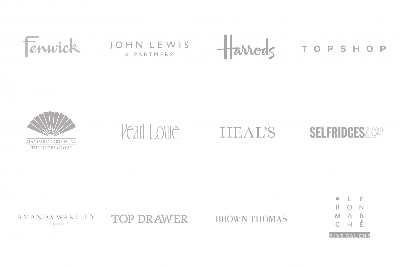 A Selection Of The Brands We Work With...